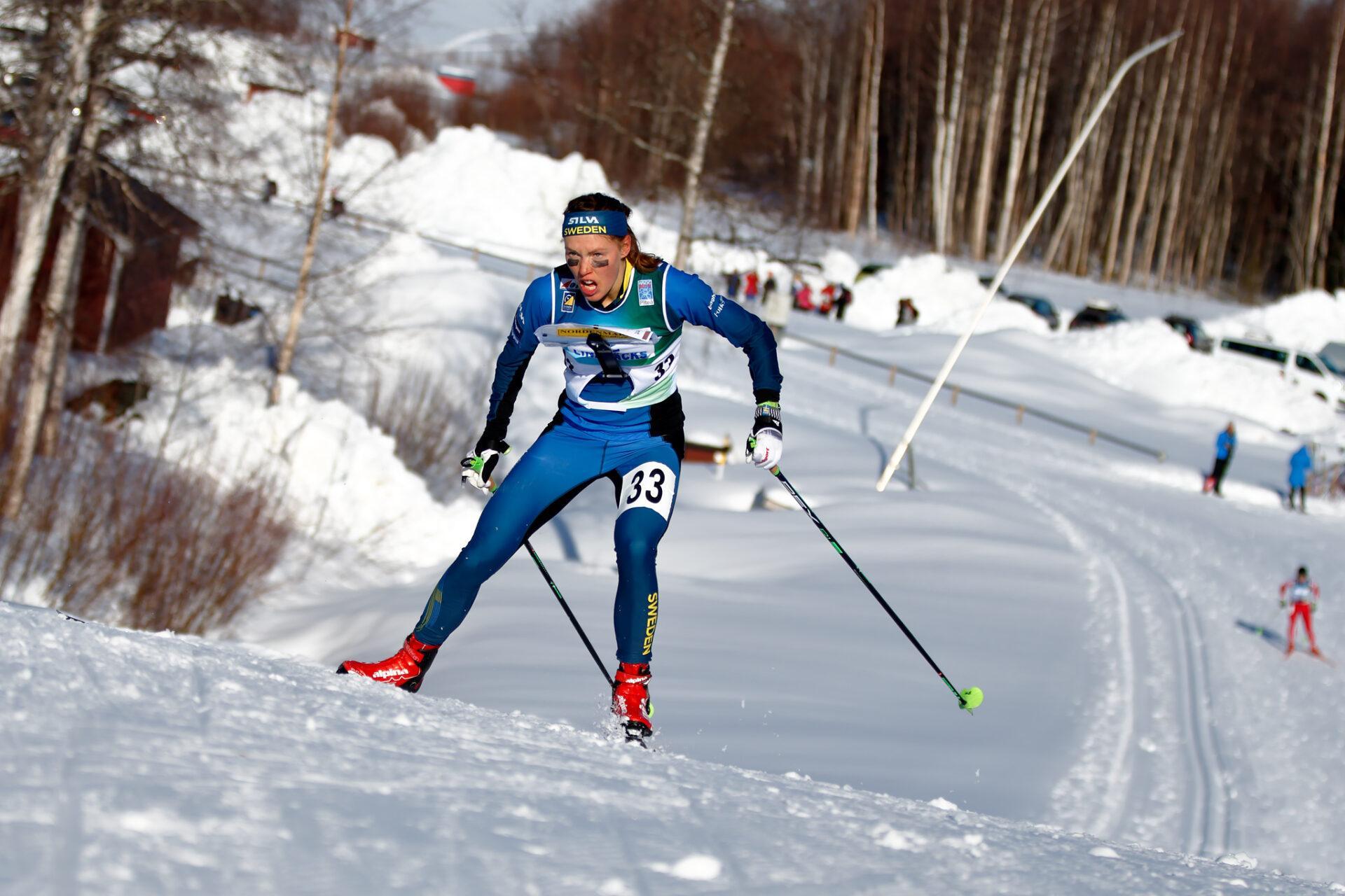 Tove Alexandersson skiing.